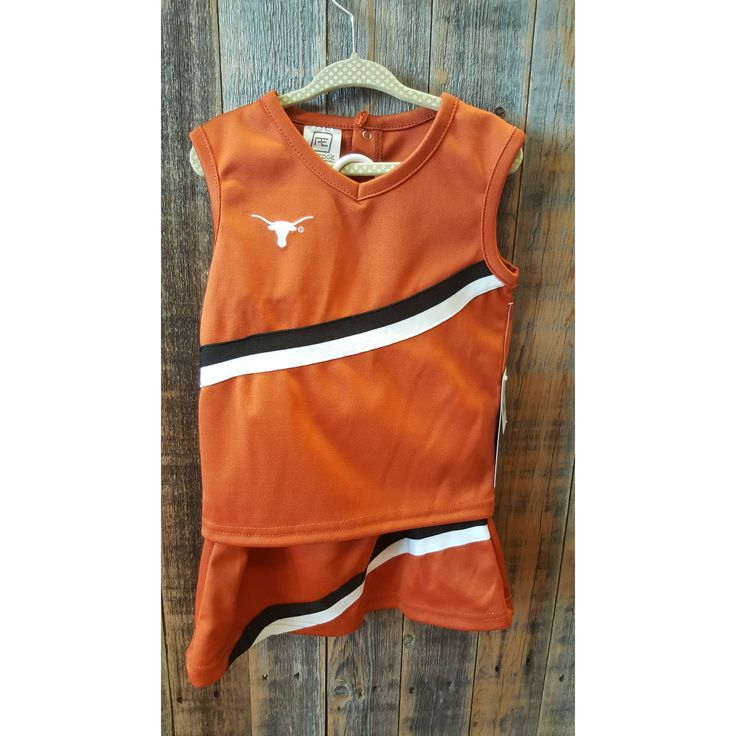 Pro Edge Texas Longhorns 2pc Cheerleading Outfit Size 3t