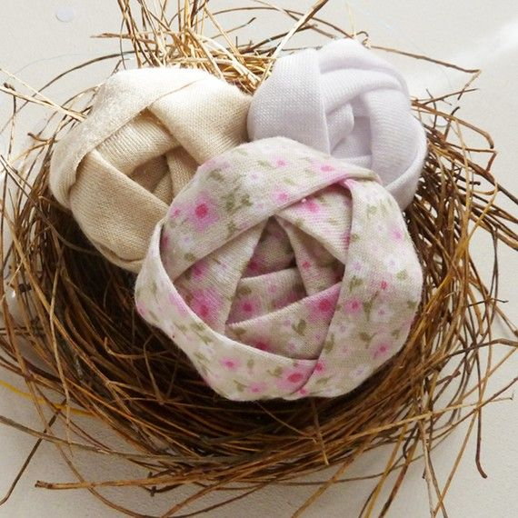 Soft Eggs Fabric Flowers sewing photo tutorial