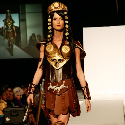 Xena the Princess Warrior in chocolate. http://www.delish.com/cooking-shows/fashions-new-york-chocolate-show#