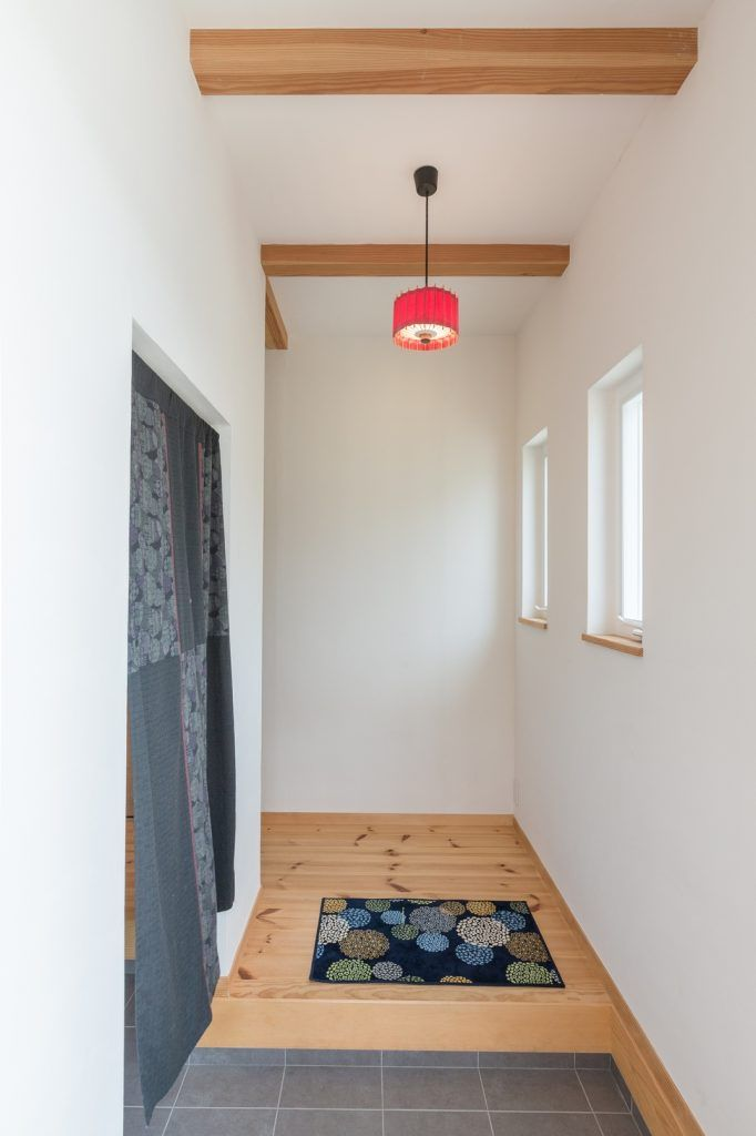 趣味を思い切り楽しめる 現代和風の家 玄関 インテリア おしゃれ 家