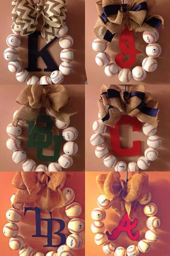 Custom Made to Order Baseball Wreath with by AnchiqueBoutique, $45.00