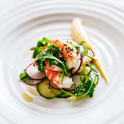 Spot Prawn Sesame Salad Recipe