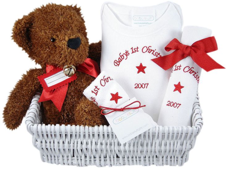 52 best images about personalized baby gifts on pinterest bucket babys first christmas personalized gift basket babygifts negle Image collections