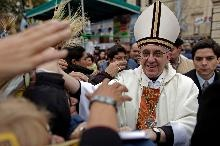 Cardinal Jorge Mario Bergoglio greeted people outside the San Cayetano church in Buenos Aires in 2009.