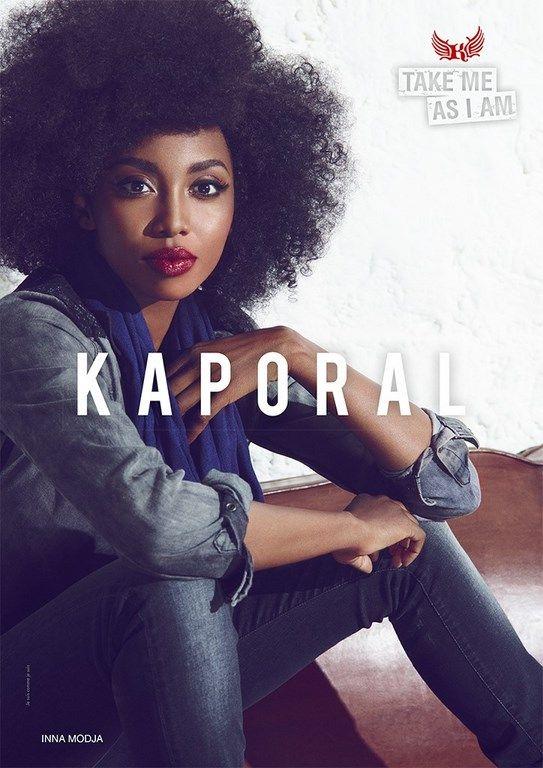 Inna modja pour Kaporal : Take me As I Am - http://citizensstyle.com/2013/09/joey-starr-emma-de-caunes-et-inna-modja-pour-kaporal/