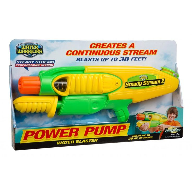 Buzz Bee Toys Water Warriors Steady Stream Water Blaster: MSRP:$15