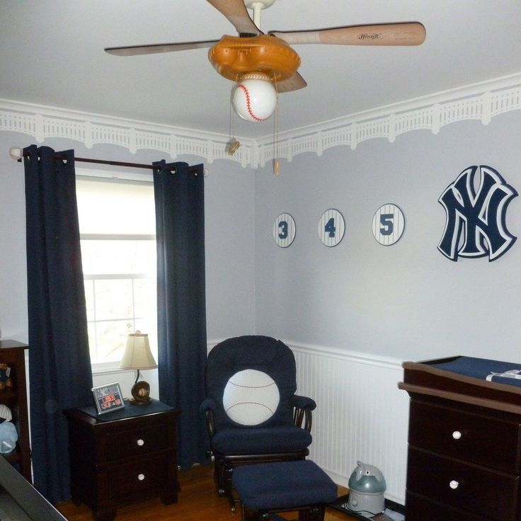 Yankee Stadium Stencil Baseball Wall Decor Nursery Man