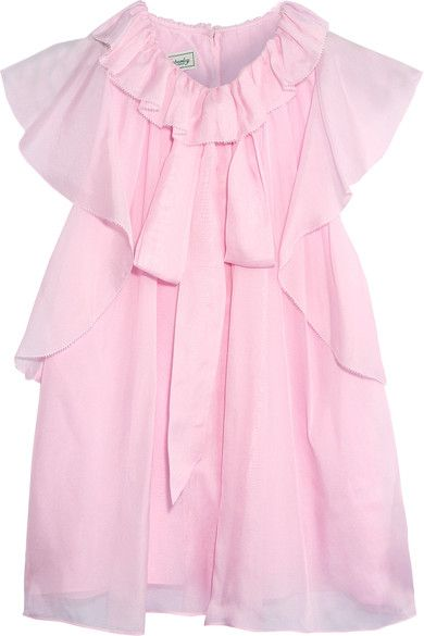 Temperley London - Allure Ruffled Silk-chiffon Blouse - Pink - UK18
