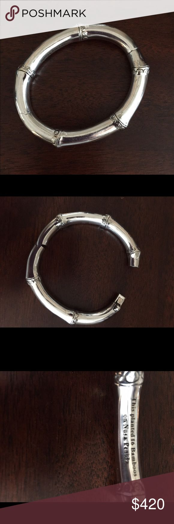 John Hardy Bamboo Bangle Silver John Hardy 8mm Bangle.  Beautiful alone or with other bracelets.  In excellent condition. John Hardy Jewelry Bracelets