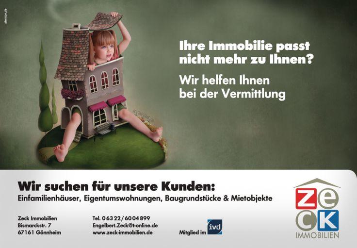 Grossfläche Plakat Immobilienmarkler Werbung Imagekampagne Corporate Design Atenton Werbeagentur