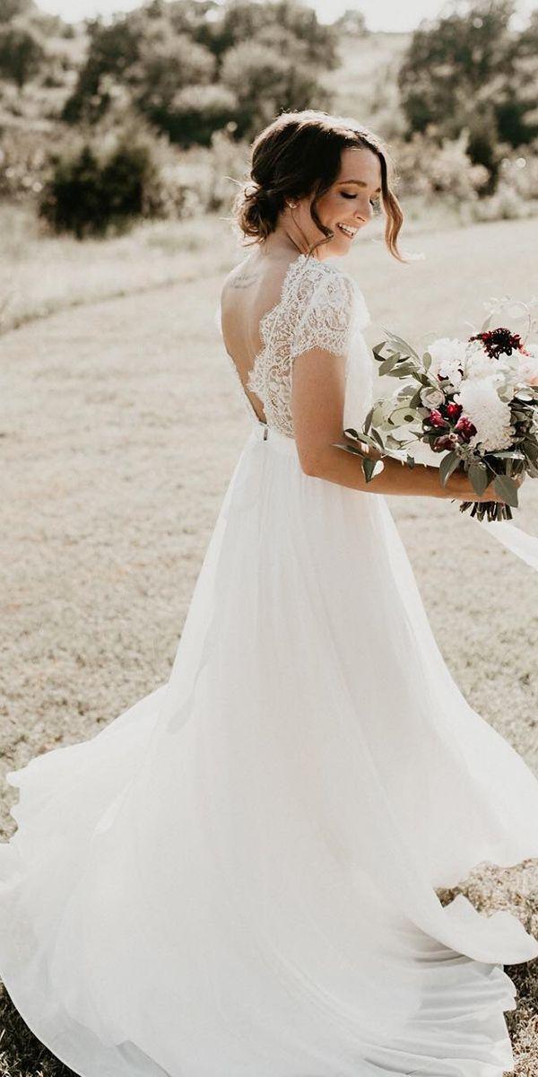 30 Simple Wedding Dresses For Elegant Brides Wedding Forward Simple Lace Wedding Dress Simple Wedding Gowns Wedding Dresses Simple