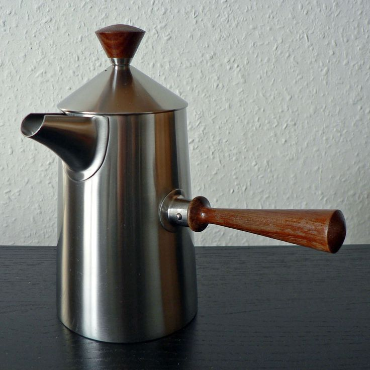 OLD HALL CAMPDEN COFFEE POT ROBERT WELCH MID-CENTURY MODERN STAINLESS STEEL TEAK in Collectables, Metalware, Stainless Steel | eBay