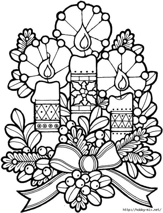Christmas And New Year Pictures Templates For Creative Coloring