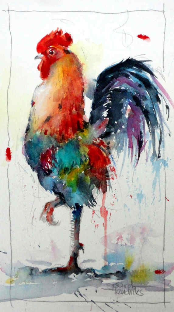 Watercolor - Gerard Hendriks - 6161 le Coq