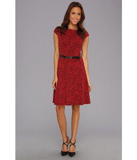 Anne Klein Mini Leopard Jersey Swing Dress