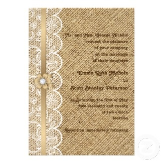 ? burlap and lace wedding decorations | ... lace and burlap: A popular wedding trend - BridalTweet Wedding Forum
