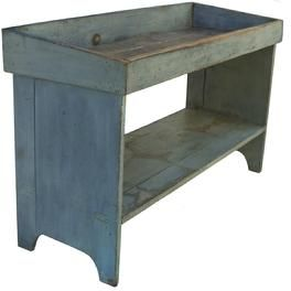 Pennsylvania bucket bench 1820-1840 This would make a great sink cupboard with a vessel sink