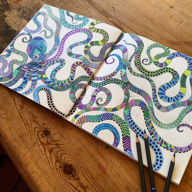 This One Took FOREVER Adultcolouring Adultcolouringbookclub Octopus Adult ColoringColoring BooksColouringDoodle ArtOctopusAnimal