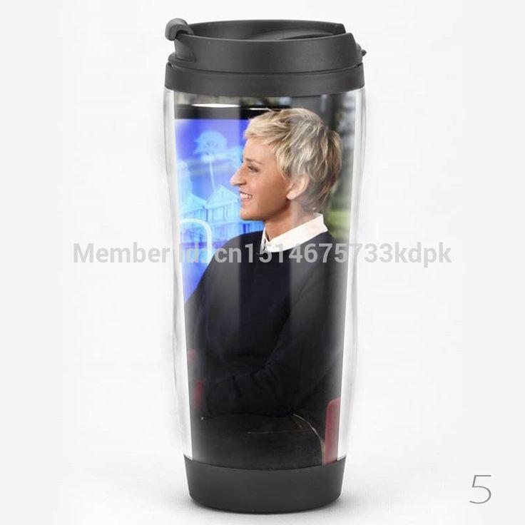 Starbucks stijl roestvrijstalen voering reis koffiemokken tuimelaar Ellen DeGeneres Show fles collectie water