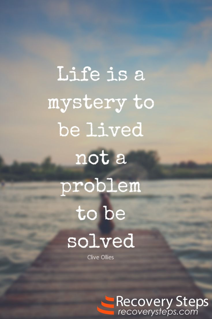 Inspirational Quotes: Life is a mystery to be lived not a ...