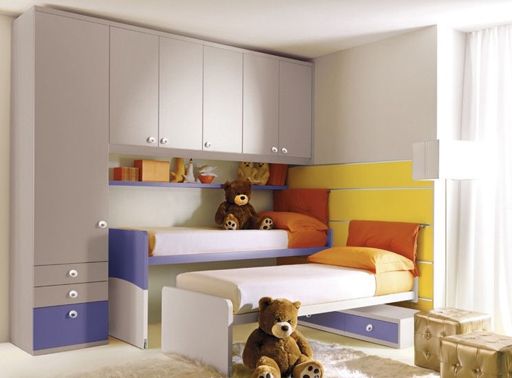 armoire pont de lit pour chambre d 39 enfant mixte 208. Black Bedroom Furniture Sets. Home Design Ideas