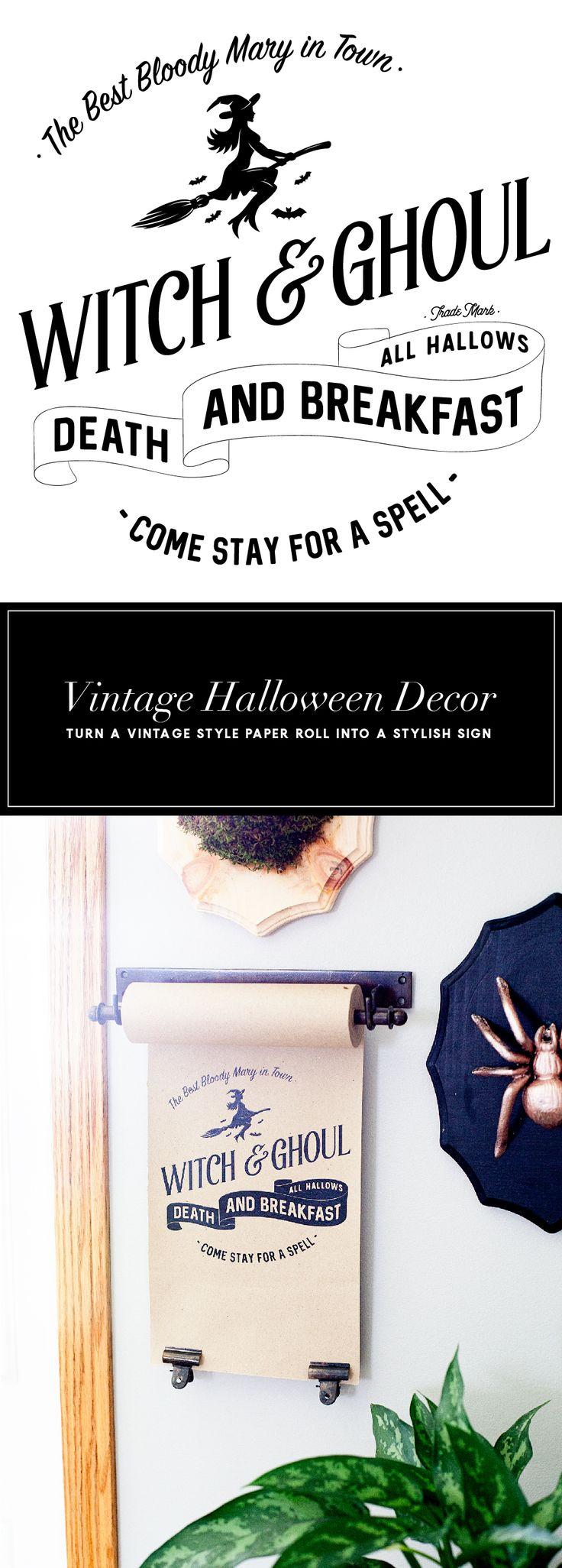 DIY Decorative Halloween Paper Roll - Cute Halloween Decorations