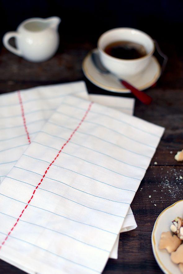 DIY notebook tea cloths
