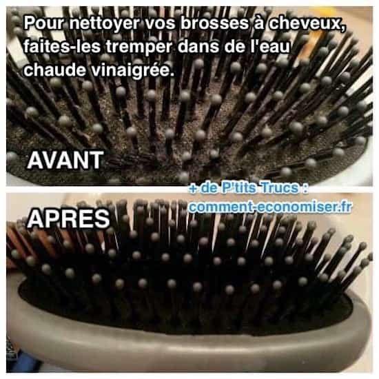 laver et désinfecter brosse cheveux facilement