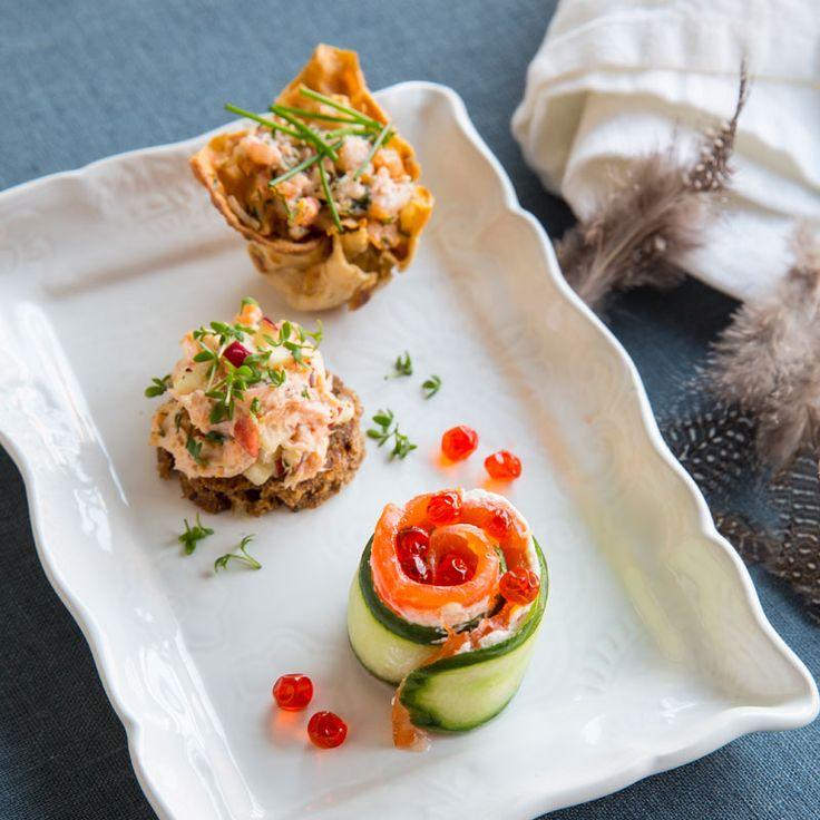 Superfina små knapriga korgar i tunnbröd som du kan fylla med vår goda och krämiga räkröra, eller vilken annan av dina favoritröror som helst!