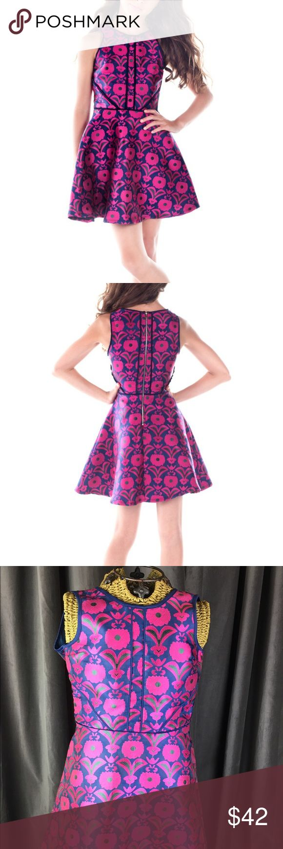 Miss Behave Dress The Kate Print Jacquard XL/14 Miss Behave  The Kate Print Jacquard  Size Big girls size XL (14) teen Juniors Beautiful print with vibrant colors  Measurements are taken flat and are approximate. Please compare to your own clothing to insure fit  • 31 inches total length  • 15 inches width armpit to armpit  • 13 inches width at waist miss behave girls  Dresses Formal