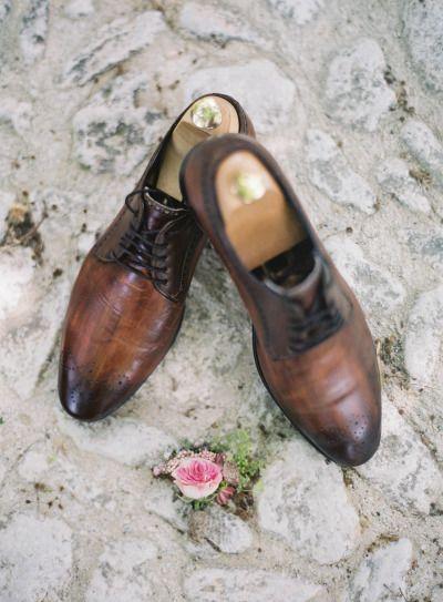 Brown groom's shoes: http://www.stylemepretty.com/little-black-book-blog/2014/11/07/provencal-bohemian-garden-wedding-inspiration/   Photography: Greg Finck - http://www.gregfinck.com/