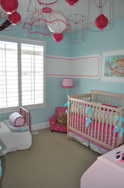 Bedroom Colors For Baby Girl: 239 Best Images About Turquoise And Pink Room On Pinterest