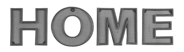 Letters Home: stoere letters van metaal, ook als tekst 'Love' beschikbaar #woonaccessoires #decoratie #words