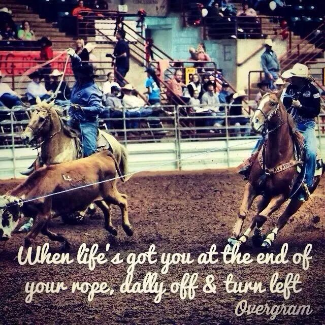 Team Roping Rodeo Quotes