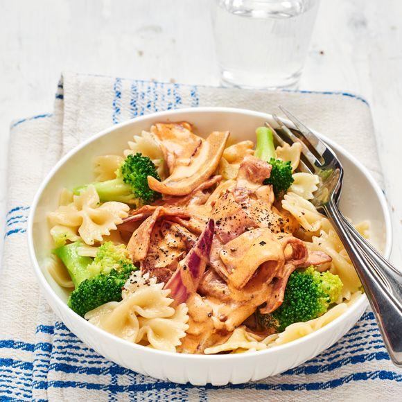 Pasta Med Kalkonbacon Och Broccoli Recept Nyttiga Maltider