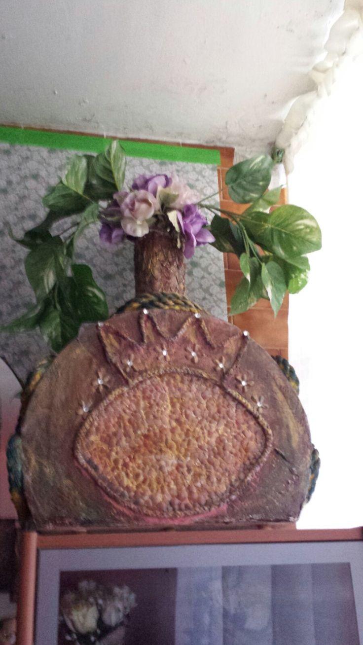 jarron grande diseo original con cascaron de huevo procesado carton soga y semillas artesania pinterest