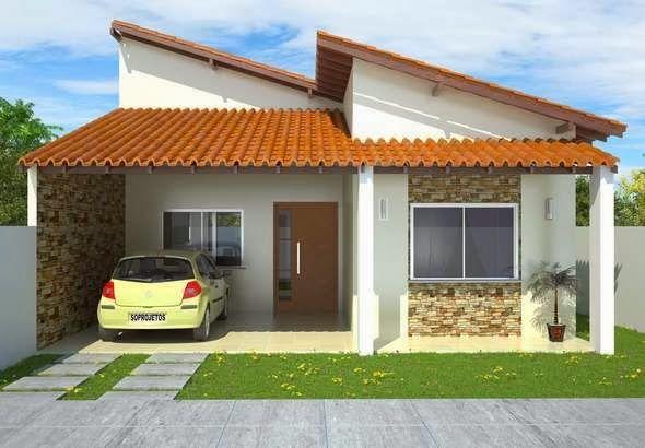 casas simples, jardins, cozinha e quarto