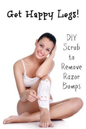 DIY Scrub to Remove Razor Bumps