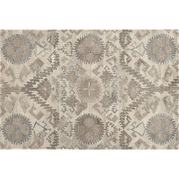 Neutral Patterned Area Rug L Crate Barrel Orissa