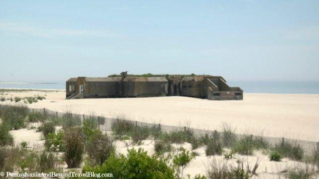 World War 2 Bunker on the Beach in Cape May - New Jersey