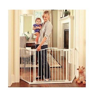 Amazing Pet Gates Extra Wide With Door Indoor Walk Thru Dog Cat Baby Metal  Mounted Home With Indoor Screen Door For Baby Room