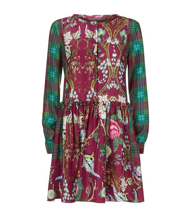 Alberta Ferretti Patchwork Print Silk Dress available to buy at Harrods.Shop clothing online and earn Rewards points.