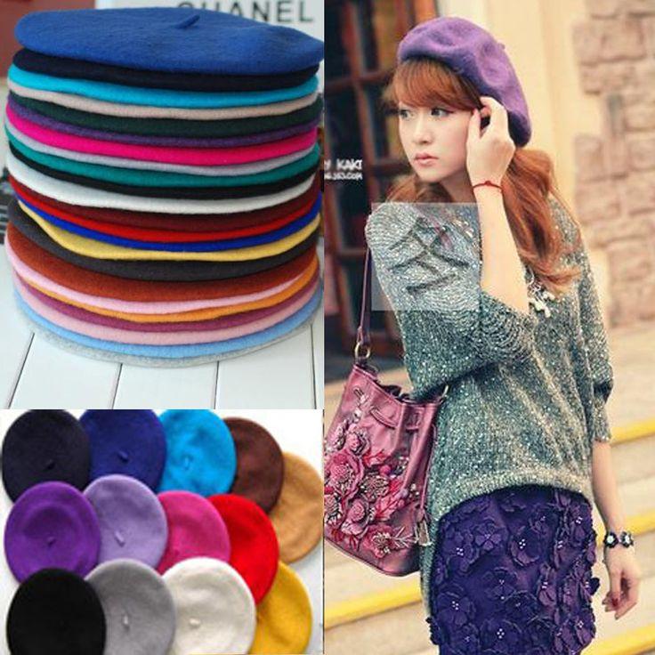 New Girl Women Wool Beret Beanie Warm Headwear Head Cover Hat Ski Cap Tam Decor #Unbranded #Ski