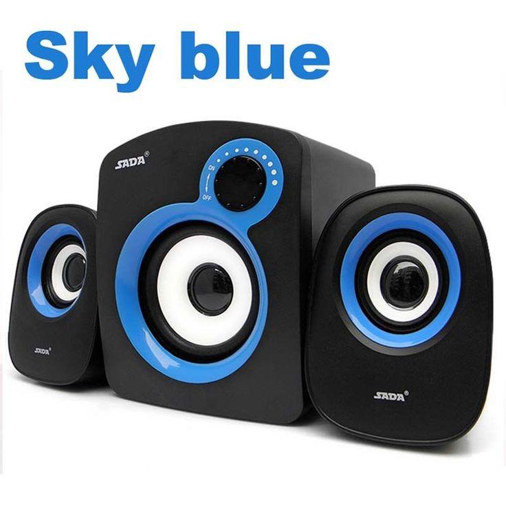 High Performance multimedia bass audio computer speakers usb 2.1 system with subwoofer Speaker for desktop laptop