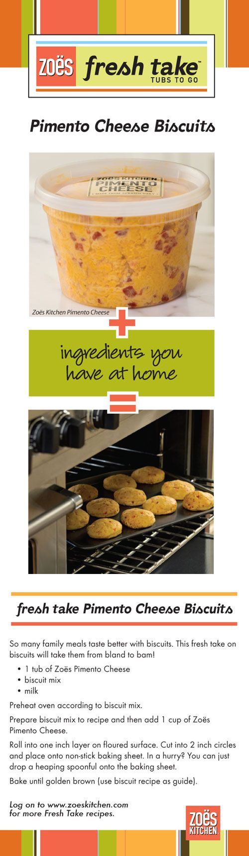 Zoes Kitchen - Zoe's Fresh Take Recipes pimento cheese biscuits