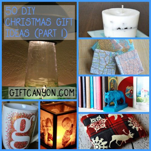 50 DIY Christmas Presents (Part 1) - I created a list of 50 homemade (DIY) Christmas gift ideas that are suitable to just about anybody on your list!