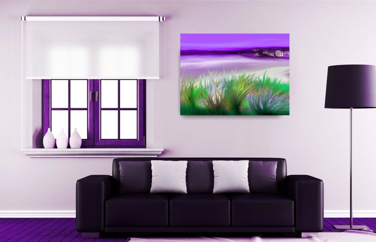 ID65 Colourful Abstract Seascape. Instant colour to home or office decor. Large affordable Painting. Instant digital download images. by ElcoStudio on Etsy