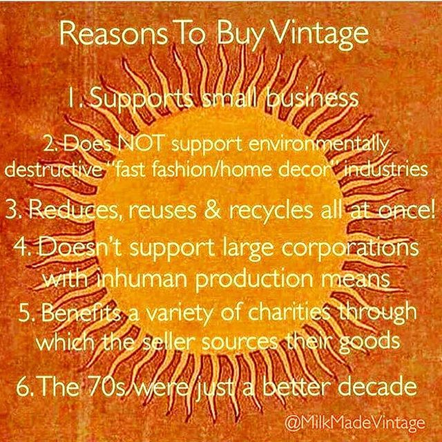 For All These Reasons And More Shopping Vintage Makes Perfect Sense Image Credit Milkmadevintage Shoplocal Vintage Mall Vintage Shops Vintage