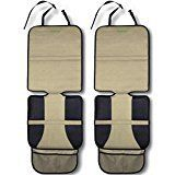 #9: Car Seat Protector Tan (2-Pack) by Drive Auto Products  Best Protection for Child & Baby Cars Seats Dog Mat  Ultimate Cover Pad Protects Automotive Vehicle Leather or Cloth Upholstery