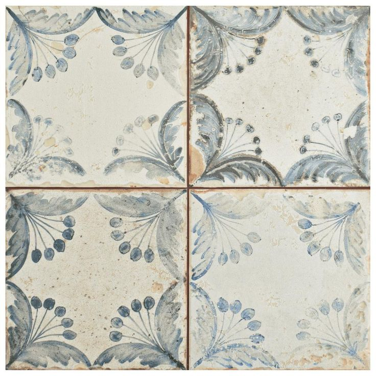 Merola Tile Oldker 13 in. x 13 in. Ceramic Floor and Wall ...